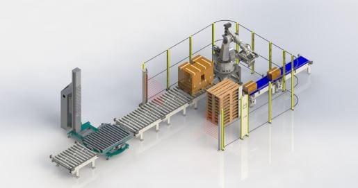 celulas paletizado con robots proinnova
